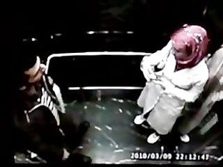 Elevator kiss hijab turban