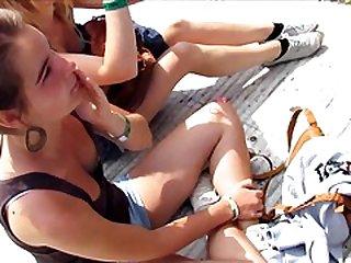 Nice teem little titties downblouse---no nude!