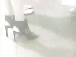 High Heels Long Legged Teen In Sexy Shoes
