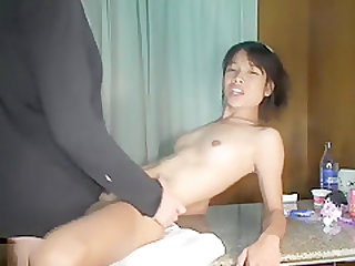 Asian Cutie On Her Knees Sucking Cock